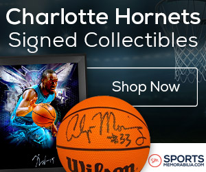 Shop for Authentic Autographed Charlotte Hornets Collectibles at SportsMemorabilia.com