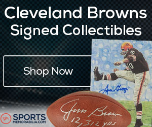 Shop for Authentic Autographed Browns Collectibles at SportsMemorabilia.com