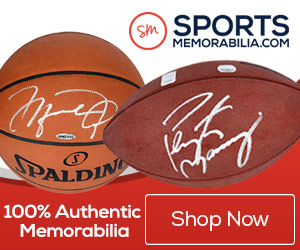 Save big on Authentic NBA Collectibles at SportsMemorabilia.com
