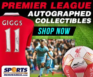Shop for Autographed English Premier League Collectibles and Memorabilia at SportsMemorabilia.com