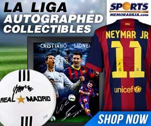 Shop for La Liga Collectibles and Memorabilia at SportsMemorabilia.com