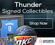 Shop for Authentic Autographed Thunder Collectibles at SportsMemorabilia.com