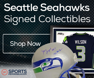 Shop for Authentic Autographed Seahawks Collectibles at SportsMemorabilia.com