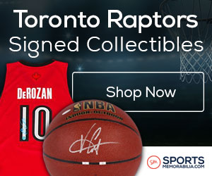 Shop for Authentic Autographed Raptors Collectibles at SportsMemorabilia.com