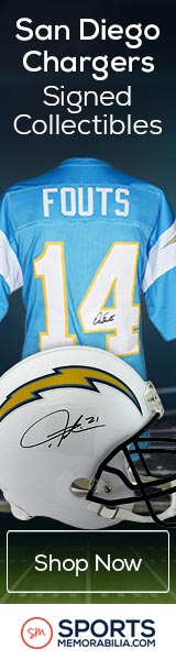 Shop for Authentic Autographed Chargers Collectibles at SportsMemorabilia.com