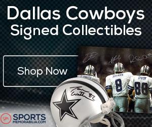 Shop for Authentic Autographed Cowboys Collectibles at SportsMemorabilia.com
