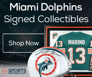 Shop for Authentic Autographed Dolphins Collectibles at SportsMemorabilia.com