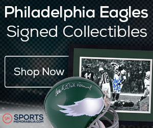 Shop for Authentic Autographed Eagles Collectibles at SportsMemorabilia.com