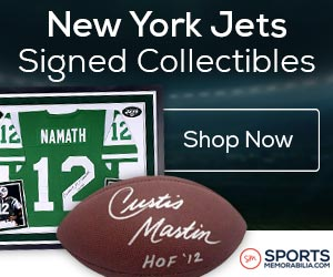 Shop for Authentic Autographed Jets Collectibles at SportsMemorabilia.com