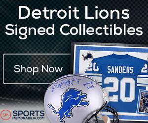 Shop for Authentic Autographed Lions Collectibles at SportsMemorabilia.com