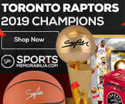 Toronto Raptors 2019 NBA Finals Champs Collectibles and Memorabilia