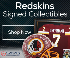 Shop for Authentic Autographed Redskins Collectibles at SportsMemorabilia.com