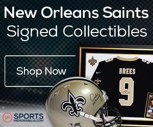 Shop for Authentic Autographed Saints Collectibles at SportsMemorabilia.com
