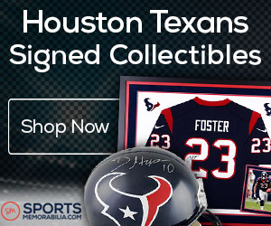 Shop for Authentic Autographed Texans Collectibles at SportsMemorabilia.com