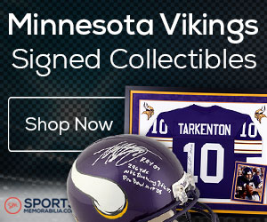 Shop for Authentic Autographed Vikings Collectibles at SportsMemorabilia.com