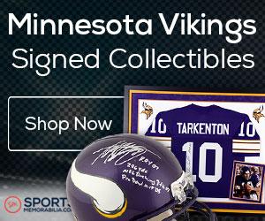 Shop for Authentic Autographed Vikings Collectibles at SportsMemorabilia.com