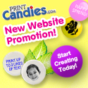 125x125 PrintCandies.com NEWSITE25 25% off $50