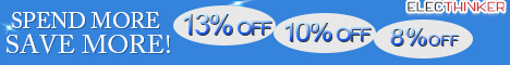 Save 13%OFF -8%OFF for E-cigarettes,Coupn: SAVE13,Spend More Save More,Ends Jun.06,2014.