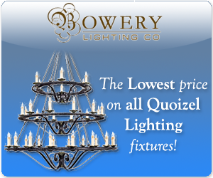 Save on Quoizel Lighting Fixtures at Bowery Lighting Co