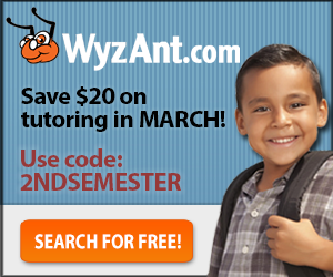 Save $20 on tutoring in January!