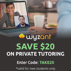 Save $20 on a private tutor on WyzAnt.com by WyzAnt Tutoring