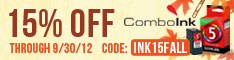 Save on ink and toner: 15% Off Any Order at ComboInk.com! (code: INK15FALL)