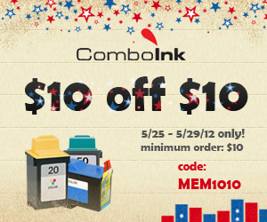 BIG SALE! ComboInk $10 off $10 - code MEM1010