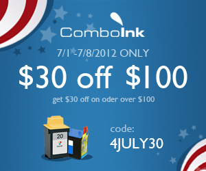 ComboInk $30 Off On Order over $100 - code 4JULY30