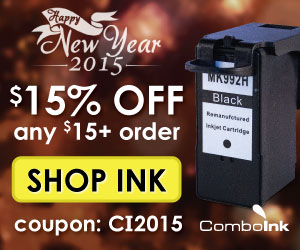 15% off any $15+ at ComboInk.com! Use code CI2015 at checkout. Expires 1/31/2015