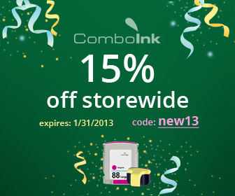 Ink & Toner Sale: 15% OFF Any Order! (use code: new13)