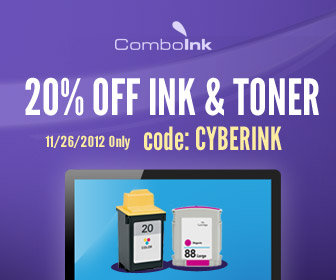Ink & Toner 20% Off! Cyber Monday Only. Use Code: CYBERINK
