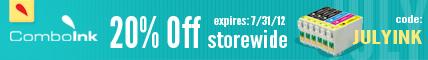 ComboInk 20% Off Storewide - code JULYINK