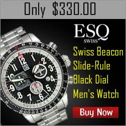 Wrist Watch - ESQ Swiss Quest Retrograde Black Dial Men's Watch