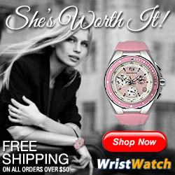 She's Worth It! Free Shipping on All Orders Over $50! Only from WristWatch.com!