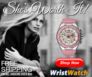 She's Worth it! Free Shipping on All Orders over $50 at WristWatch.com!