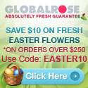 125x125 - $10 OFF on Easter Flowers