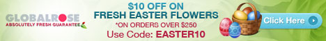 468x60 - $10 OFF on Easter Flowers
