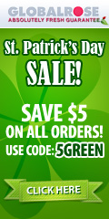 St.Patrick''s Day Treat - $5 OFF