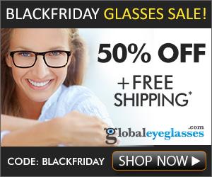 Black Friday 50% Off Eyeglasses Sale
