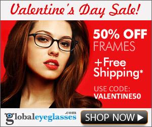 Valentine Day Sale - GlobalEyeglasses.com