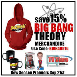 Big Bang Theory Season Premiere is Sep 21st! Save 15% on your fan gear. Use code BIGBANG15.