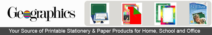 Geographics, Your Source of Printable Stationery and Paper Products for Home, School and Office