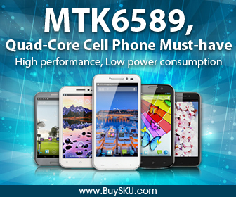 MTK6589,Quad-Core Cell Phone Must-have, High performance, Low power consumption, Free Shipping by HooGo INC