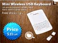 Wireless Handheld Rechargeable PC Keyboard