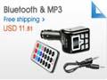 Wireless 12V Bluetooth and MP3 FM Modulator