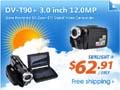 DV-T90+ 3.0 inch 12.0MP Solar Powered 8X Zoom DV Digital Video Camcorder