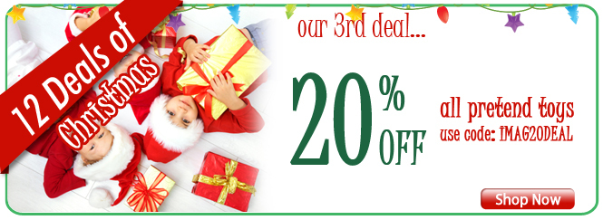 12 Deals of Christmas! Our 3rd deal - 20% off pretend toys!