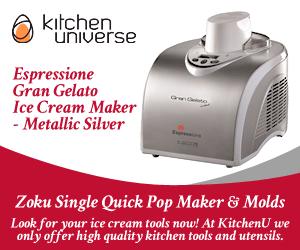 Espressione Gran Gelato Ice Cream Maker - Metallic Silver