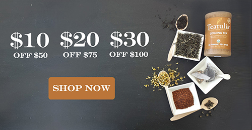 Up to $30 off Teatulia Tea!