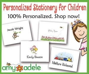 Kids Personalized Stationery at AmyAdele.com! Shop Today!